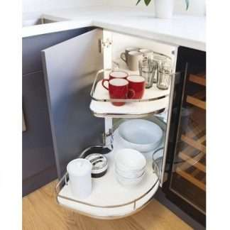 Corner Pull Out Shelving Unit 1000mm Left hand