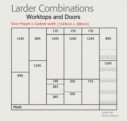 Extra Tall Lader Combinations 400mm