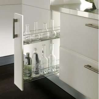 pull-out-storage-unit-two-tier-for-cabinet-width-150-mm-dynamic-soft-closing-runners