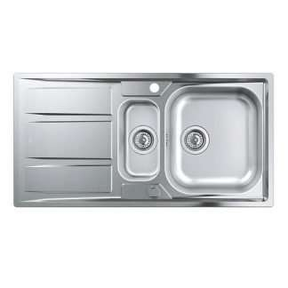 Stainless Steel Sink 1.5 Bowl Grohe K400