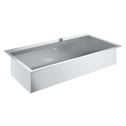Stainless Steel Sink, Single Bowl Grohe K800 size 846 x 560 mm