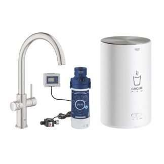 Instant Hot Water Tap C-Spout Supersteel