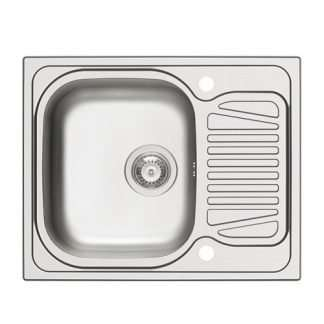 Sink, Single Bowl with Drainer, Sparta