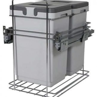 Pull Out Waste Bin, Over Extension, Kombi 400mm
