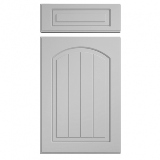 Saxon Arch Cupboard Doors Light Grey