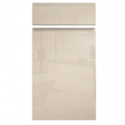 Handleless Cabinet Doors Kassel Gloss Cream