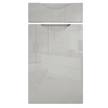 Orion Handleless Cabinet Doors Gloss Light Grey